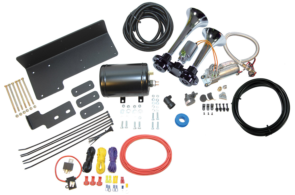 Horn Blaster Wiring Diagram : Chrome air horn kit for jeep wranglers up kleinn