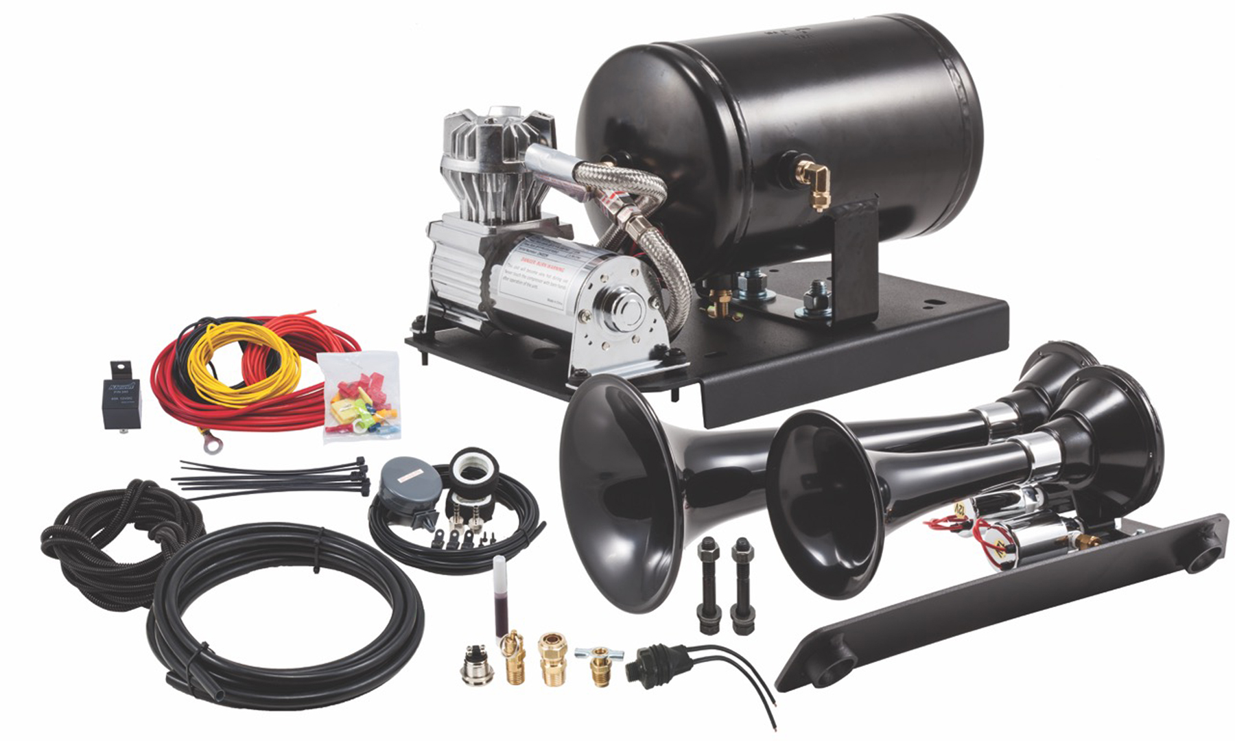 Gm 1500 Under Hood Train Horn Kit With Model 220 Dual Horns Battery Wiring Description
